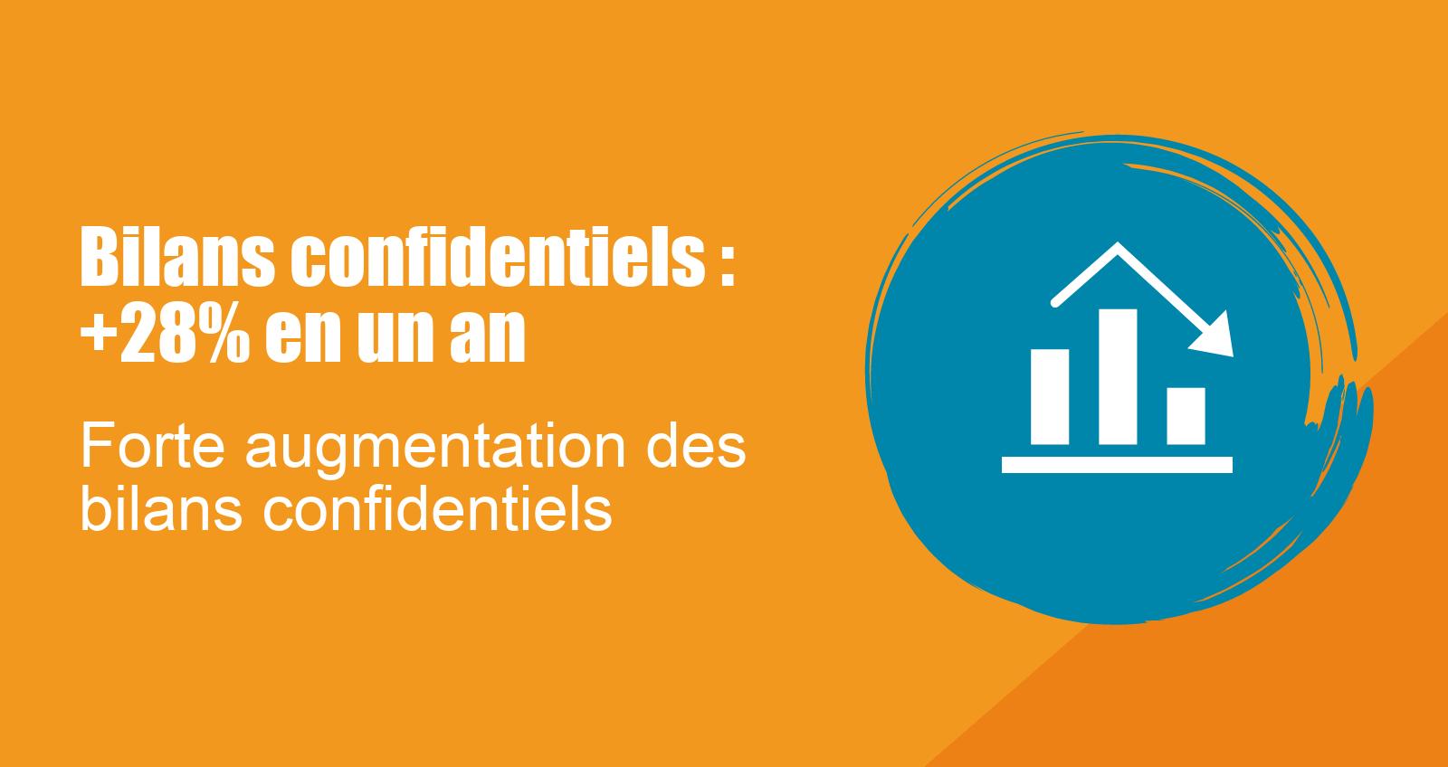 Bilans confidentiels : augmentation forte du nombre de bilans confidentiels en 2017